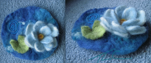 Needle Felted Lotus Pond by Ferngirl