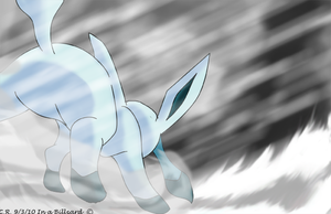 Glaceon In a Blizzard by Phatmon