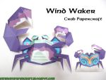 Wind Waker Crab Papercraft by squeezycheesecake