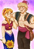 Kristoff and Anna - Aladdin Version by Yamatoking