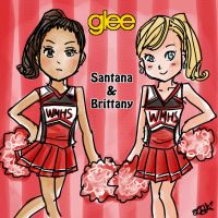 Glee: Santana and Brittany by FioLoX