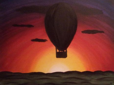Balloon in a Sunset by DaphneAS