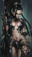 Headhunter Nidalee (LoL fanart) by essentialsquid