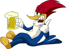 Woody woodpecker Beer by LoulouVZ
