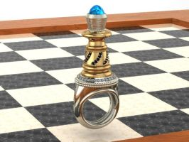 Bishop Chess Board Ring by mooredesign13