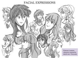 Facial Expressions Sketch by Violet1202