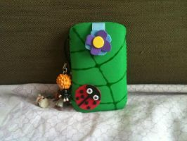 Leaf with a ladybird mobile case by anapeig