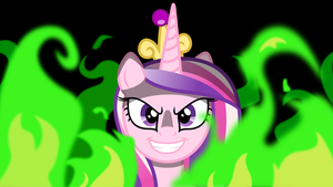 Evil Cadence in Flames wallpaper by Atmospark