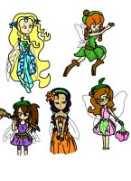 Classic Disney Fairies by lillilotus