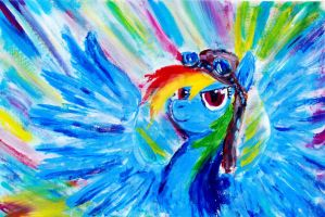 Rainbow Dash Sonic Rainboom by Mademoiselle-Moder