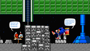 Sonic.exe in Ducktales Moon by DarkraDx