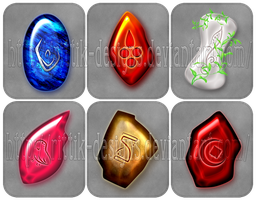 Rune stones commissions by Rittik-Designs