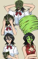 Rukia becoming The Mask - Coloured by MaskedWander
