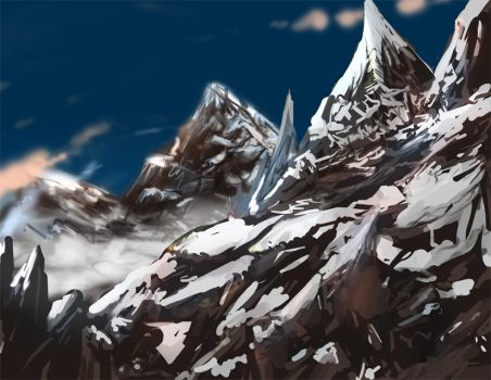 Mountain SpeedPaint by ShadowKiwi