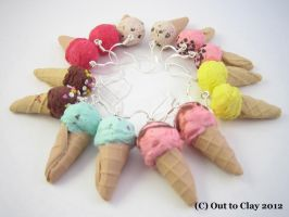 Ice cream cones by Outtoclay