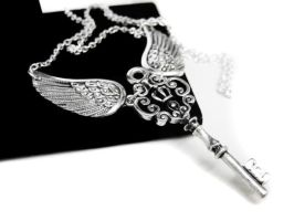 Angel Wing Key Necklace by pila12903