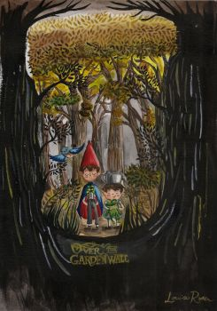 Over The Garden Wall by Louise-Rosa
