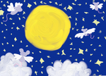 Fly me to the moon by Cheesegoddess