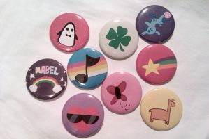 Gravity Falls Buttons - Mabel's Sweaters by IamSare