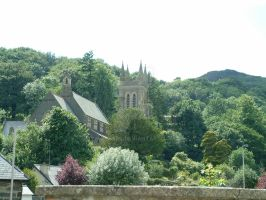 Village Church in the green by TERABBS