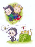 Chibi Thorki Stuff 2 by Lilianbelieve