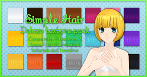 Simple Hair Deluxe Texture Pack - 20 points by Stella-Hagane