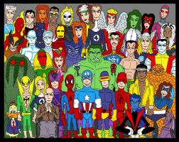 Marvel Group by Lordwormm
