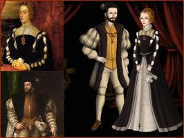 Isabella of Portugal and Charles V by Nurycat