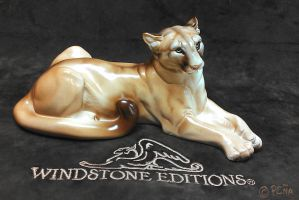 Mountain Lion Sculpt Full Body Front by Reptangle