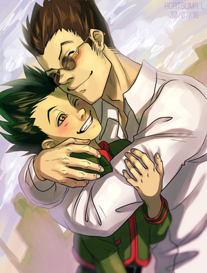 world's best dad and cutest son :3 by H8ARO