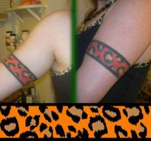 Tattoo: Leopard Tribal Band by Catwoman69y2k