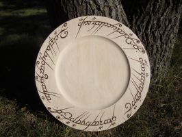 The one Platter Woodburning by ironhorn2501