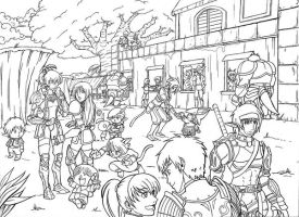 FFXI Windy Auction House by Tamura