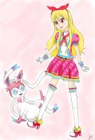Hoshimiya Ichigo as a Pokemon trainer by PointlesslySarah