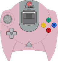 Dreamcast Controller [Pearl Pink] by BLUEamnesiac
