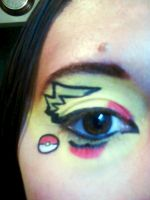 pikachu makeup by InkIsMyPassion