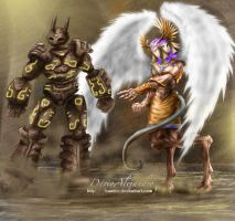 The godess and the golem by bandro
