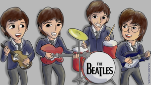 Chibi Beatles by Kosmotiel