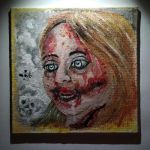 Amateur painting of a zombie girl. by goRillA-iNK