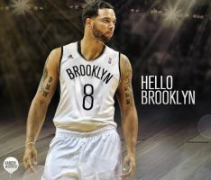 Deron Williams Brooklyn Nets by IshaanMishra