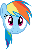Rainbow Dash Face by PaulySentry