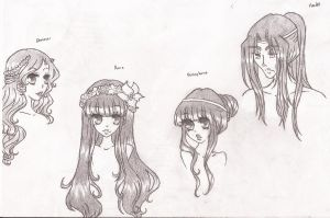Characters from the Rape of Persephone