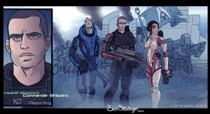 Mass Effect 3 collection Earth by EskarArt