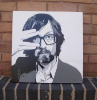 Jarvis Cocker - Stencil Spraypaint on Canvas by RAMART79