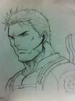 Chris redfield by Tomuribecastro