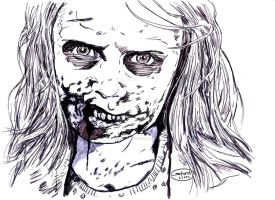 The Walking Dead:Zombie Girl by StevenWilcox