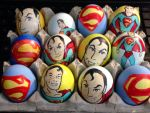 Superman Easter eggs by Rene-L
