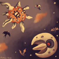 Pokemon Advent Challenge Day 6-Day and Night by Mokka-Quill
