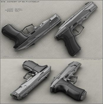B78 - sci fi handgun by peterku