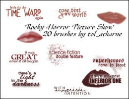 20 Rocky Horror Show Brushes by tol-acharne